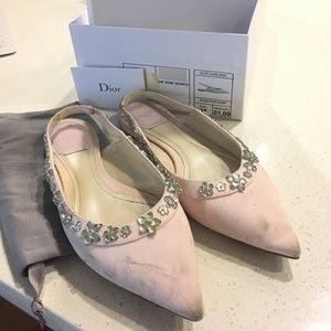 Christian Dior Pink Flats 38